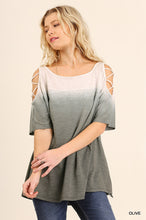 Open Shoulder Ombre Top