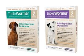 Triple Wormer for Medium and Large Dogs greater than 25lbs