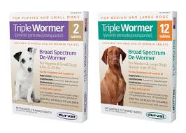 Triple Wormer for Puppies & Small Dogs 6lbs to 25lbs