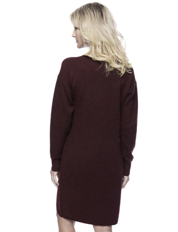 Tocco Reale Women's Wool Blend Sweater Dress - Bordeaux