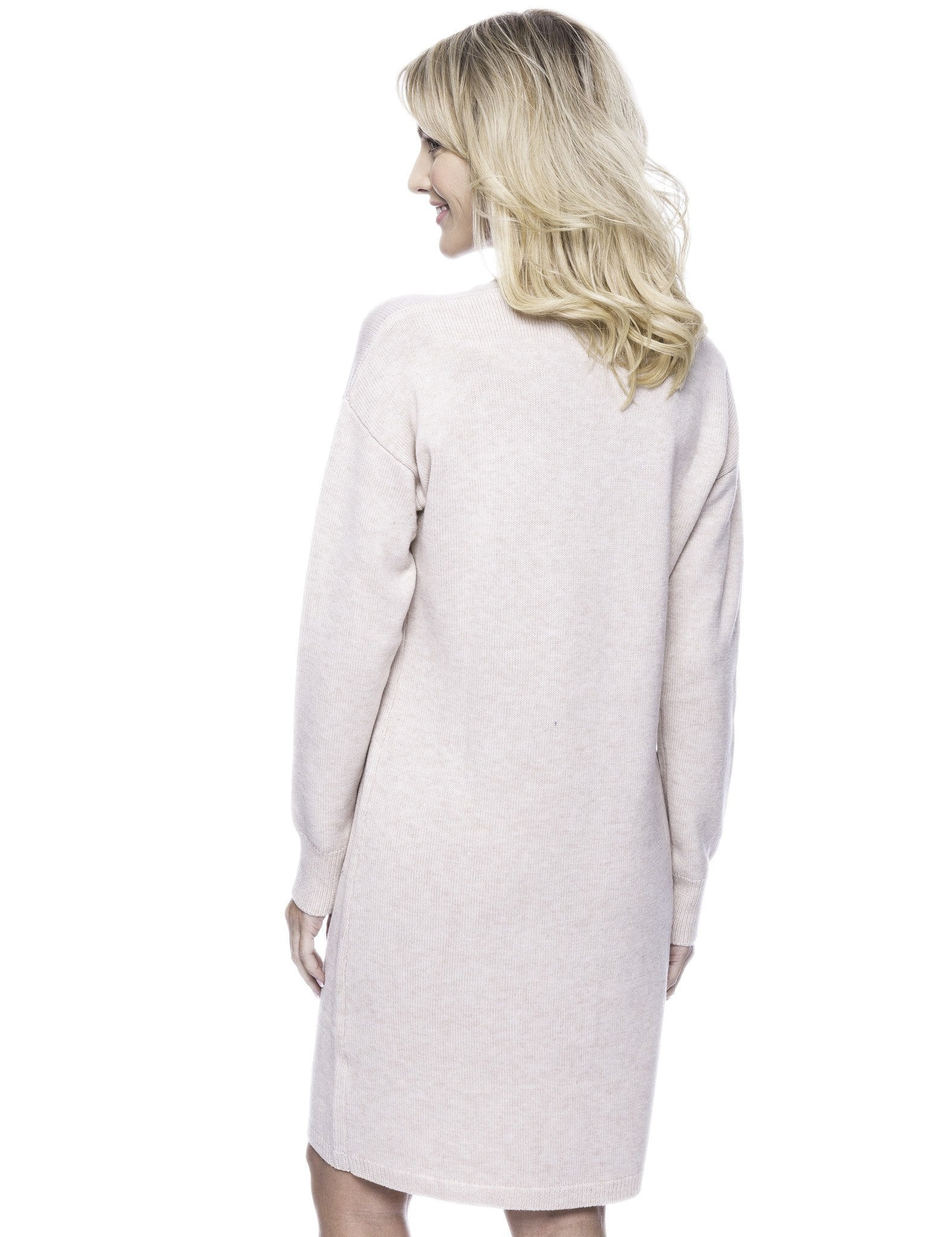 Tocco Reale Women's Wool Blend Sweater Dress - Oatmeal