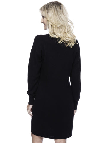 Tocco Reale Women's Wool Blend Sweater Dress - Black