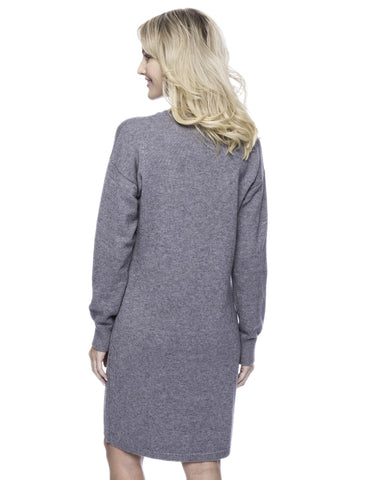 Tocco Reale Women's Wool Blend Sweater Dress - Dark Grey