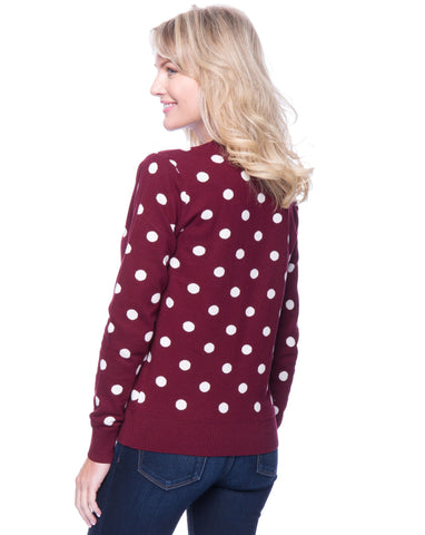 Tocco Reale Women's Polka Dots Bordeaux/Ivory