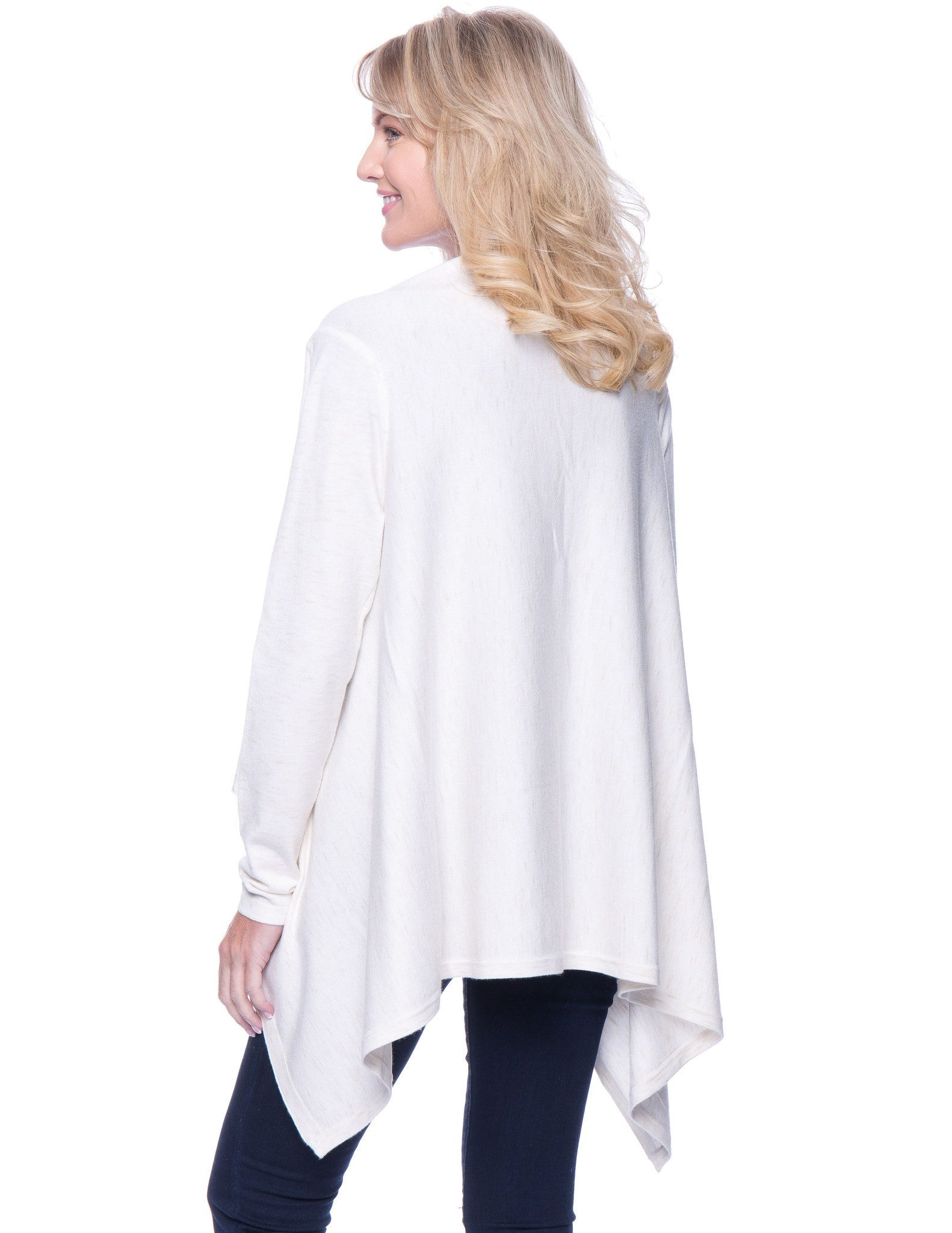 Tocco Reale Women's Space Dyed Open Cardigan Sweater - Oatmeal