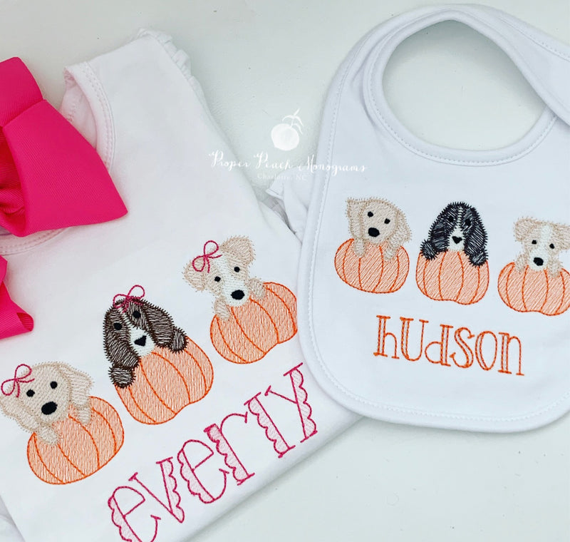 Puppy Pumpkin Design (Girl)