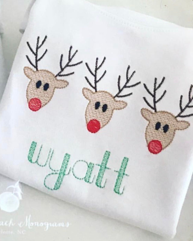 Reindeer tree tee (girl & boy listing)
