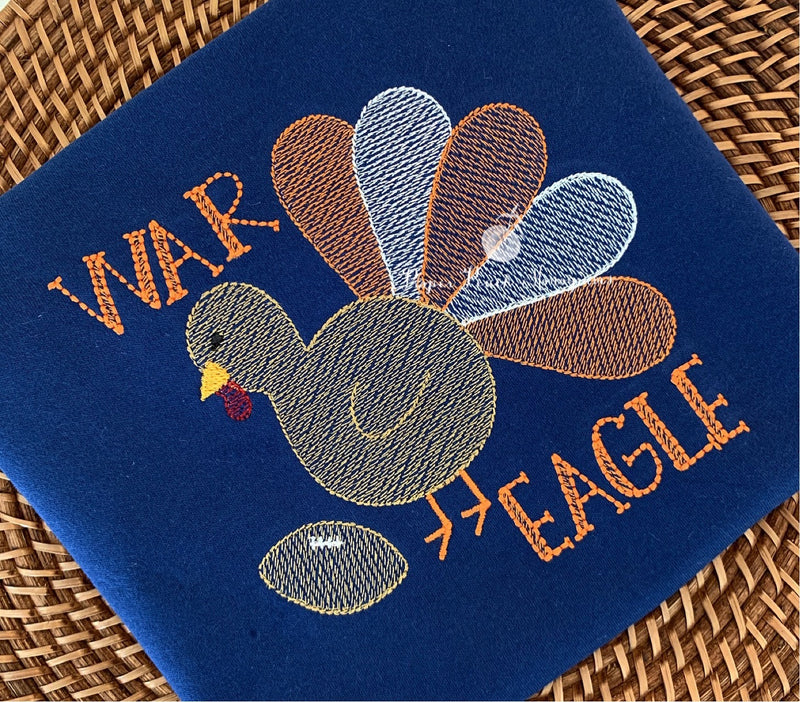 Turkey + Pumpkins Girl Tee