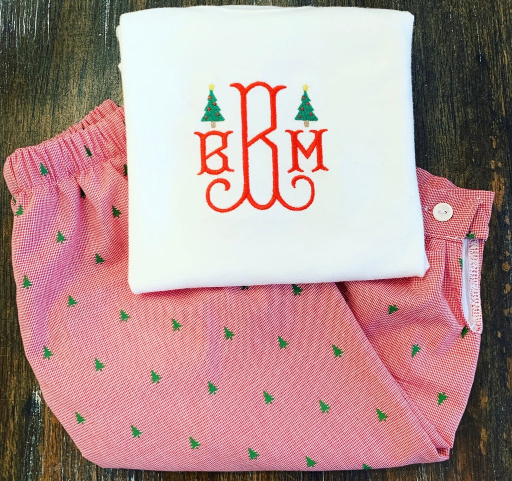Mini Christmas Tree Monogram