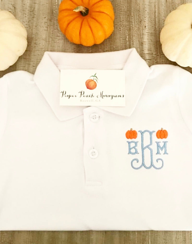 Pumpkin Collared Shirt