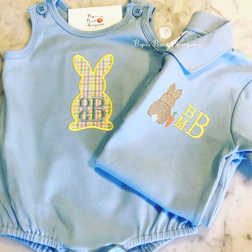 Easter bunny appliqué- boy