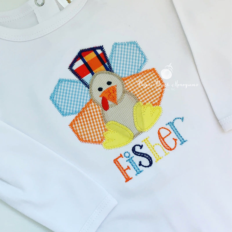 Girl Turkey Appliqué