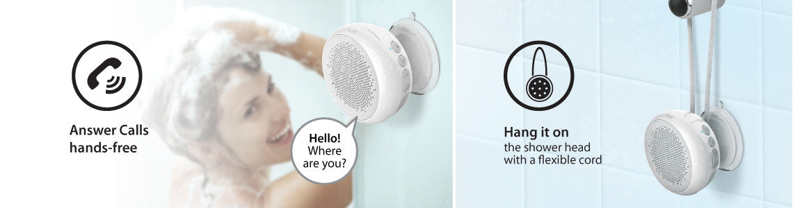 Answer Calls Hands-Free and Hang it in the Shower with a Flexible Cord