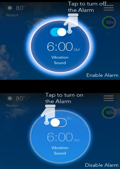 Enable / Disable Alarm