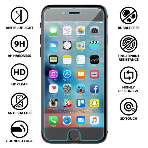 Anti Blue Light Tempered Glass Screen Protector Kit for