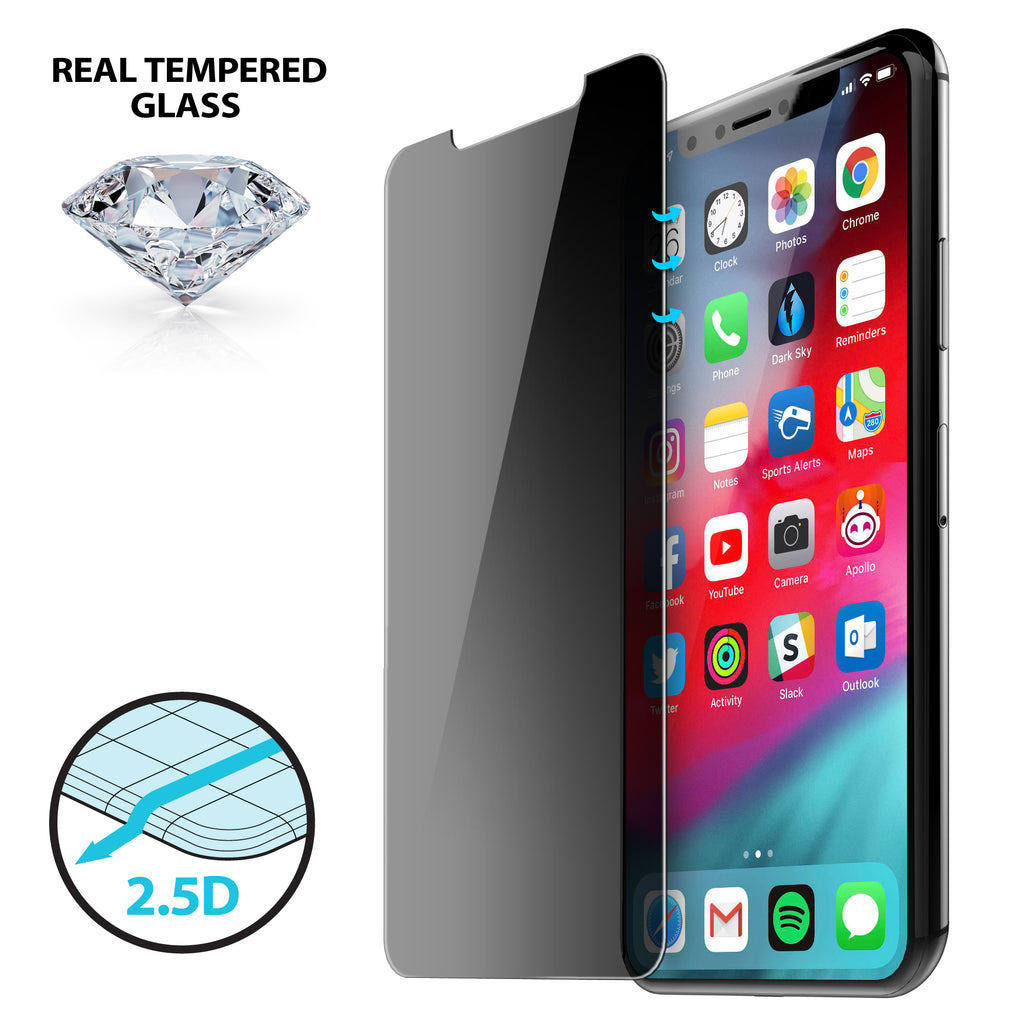 premium selection 5a9bf 808f5 2.5D Privacy Tempered Glass for iPhone X/Xs