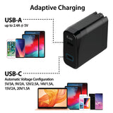 42W Dual(USB-C/USB-A) Fast Wall Charger