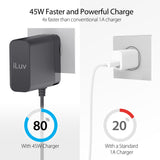 45W USB-C Faster AC Adapter with 6ft Cable