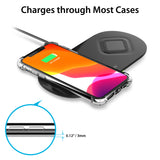 2-in-1 Fast Wireless Charging Pad