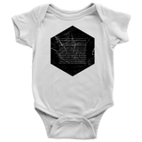 Books of the Bible | Geometric Minimalist Design | Christian Onesie White