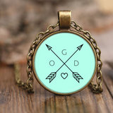 God Arrows and Feathers | Christian Necklace and Jewelry | Gifts for Christian Women Antique Brass