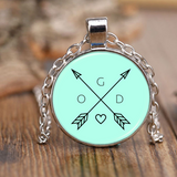 God Arrows and Feathers | Christian Necklace and Jewelry | Gifts for Christian Women Nickel