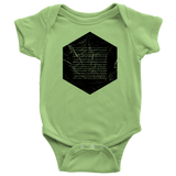 Books of the Bible | Geometric Minimalist Design | Christian Onesie Green