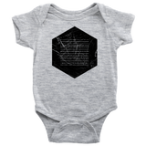 Books of the Bible | Geometric Minimalist Design | Christian Onesie Grey