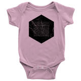 Books of the Bible | Geometric Minimalist Design | Christian Onesie Pink