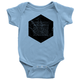 Books of the Bible | Geometric Minimalist Design | Christian Onesie Blue