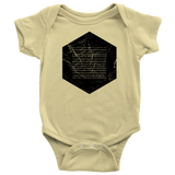 Books of the Bible | Geometric Minimalist Design | Christian Onesie Yellow