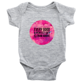 Every Good and Perfect Gift is From Above | Christian Onesie Grey