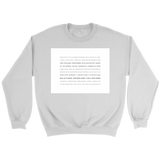 Books of the Bible | White Square | Christian Crewneck Sweatshirt | Plus Sizes White