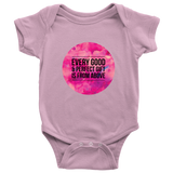 Every Good and Perfect Gift is From Above | Christian Onesie Pink