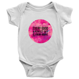 Every Good and Perfect Gift is From Above | Christian Onesie White