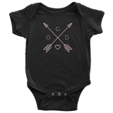 GOD Arrows and Feathers | Christian Onesie Black