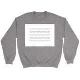 Books of the Bible | White Square | Christian Crewneck Sweatshirt | Plus Sizes Grey