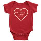 The Struggle Is Real But So Is My God | Christian Onesie Red