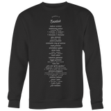 Handwritten Books of the Bible | Christian Crewneck Sweatshirt | Plus Sizes