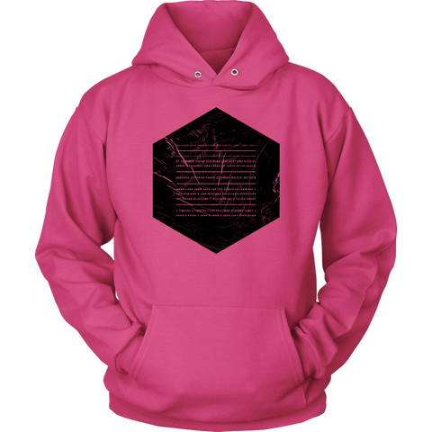 Books of the Bible | Christian Hoodie | Minimalist Geometric | Plus Sizes Pink