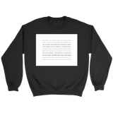 Books of the Bible | White Square | Christian Crewneck Sweatshirt | Plus Sizes Black
