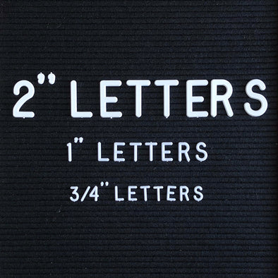 "Additional Letter Sets - 3/4"" and 2"""