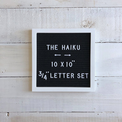 The White Haiku (Black Felt) - NOW IN STOCK!