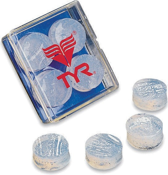 TYR Soft Silicone Ear Plugs - Clear
