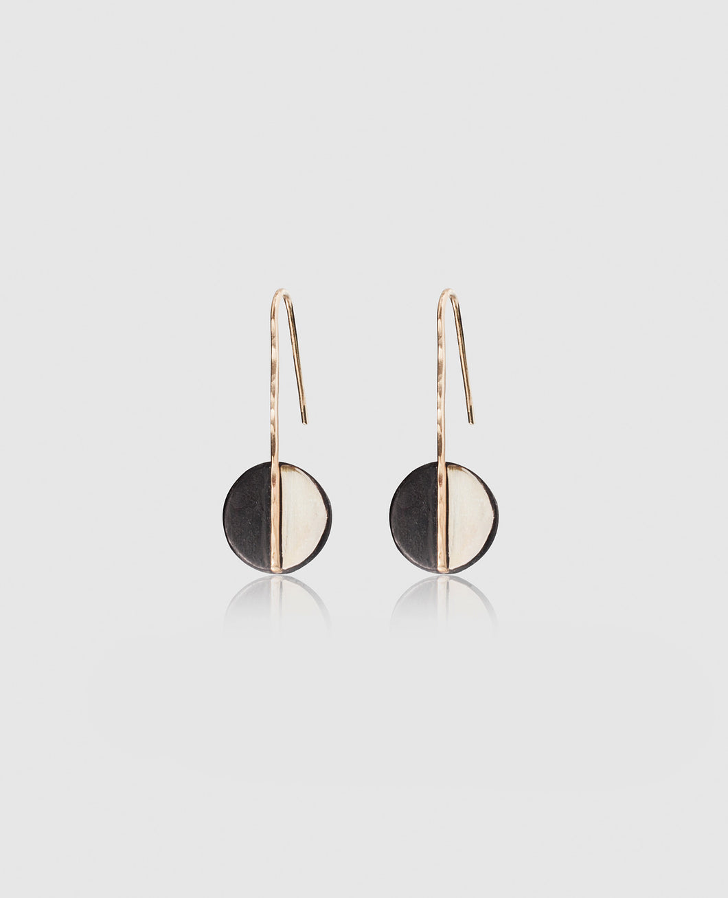 Light + Dark Circle Earrings