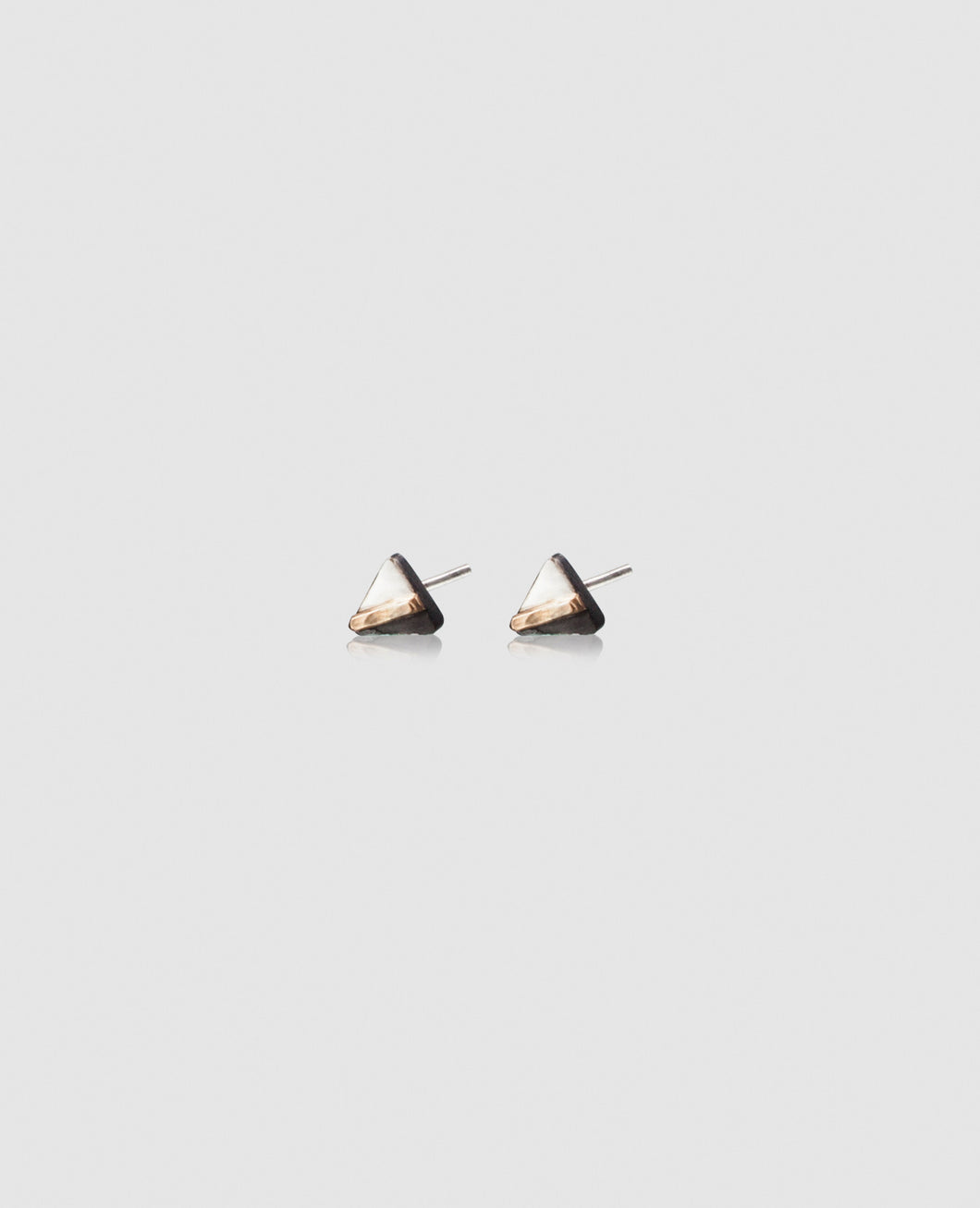 Light + Dark Triangle Studs