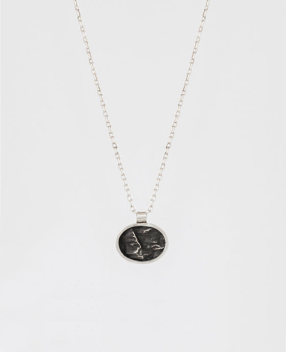 Mini Oval Topography Necklace
