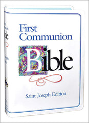 St. Joseph First Communion Bible (NABRE/boys) white and blue