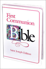 St. Joseph First Communion Bible (NABRE/girls) white and pink