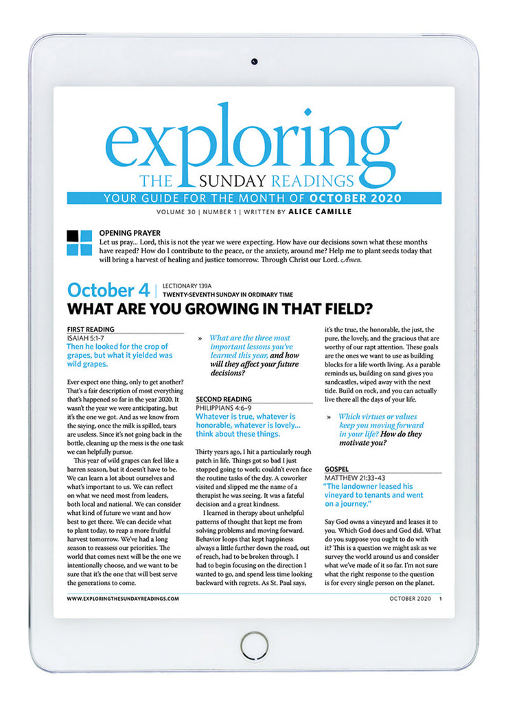 October Exploring the Sunday Readings Digital Edition